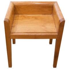 Andrianna Shamaris Minimalist Teak Wood Chair
