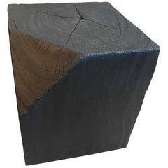 Andrianna Shamaris Modular Charred Suar Wood Side Table