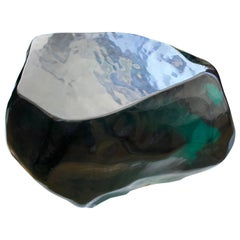 Andrianna Shamaris Obsidian Volcanic Glass Coffee Table or Side Table