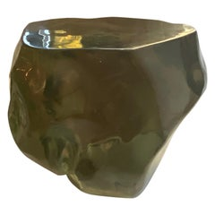 Andrianna Shamaris Obsidian Volcanic Glass Side Table