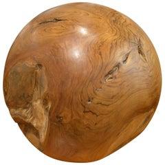 Andrianna Shamaris Organic Teak Wood Sphere