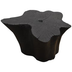 Andrianna Shamaris Organic Triple Burnt Teak Wood Side Table