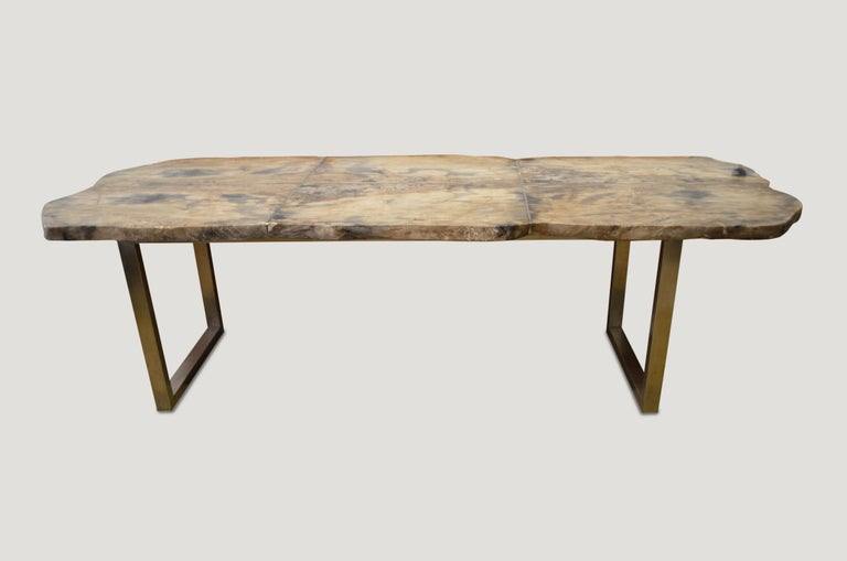 Andrianna Shamaris Petrified Wood Table In Excellent Condition For Sale In New York, NY