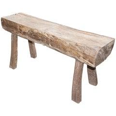 Andrianna Shamaris Primitive Teak Wood Log Bench