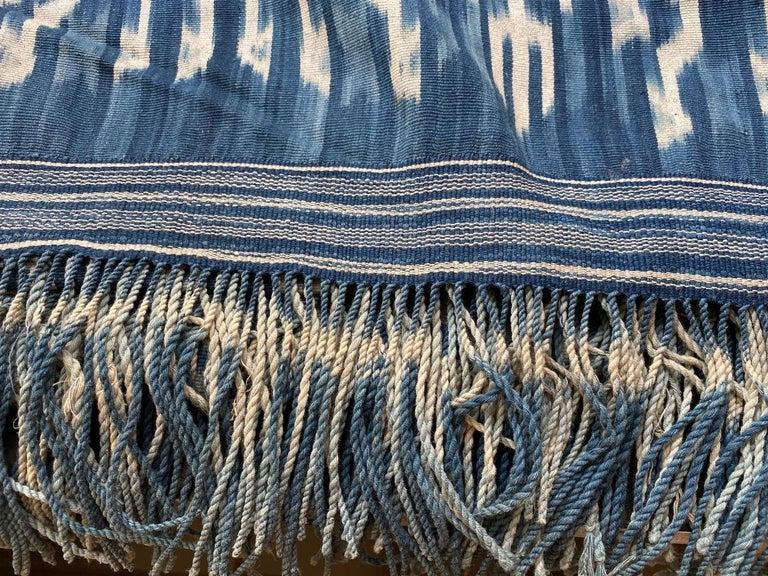 Andrianna Shamaris Rare Bold indigo Cotton Sumba Textile For Sale 3