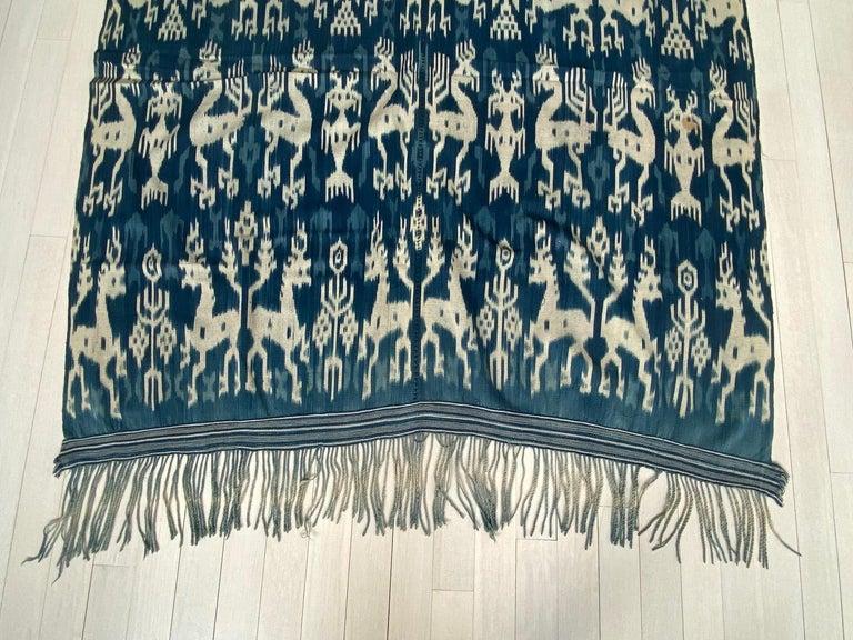 Andrianna Shamaris Rare Bold indigo Cotton Sumba Textile For Sale 4