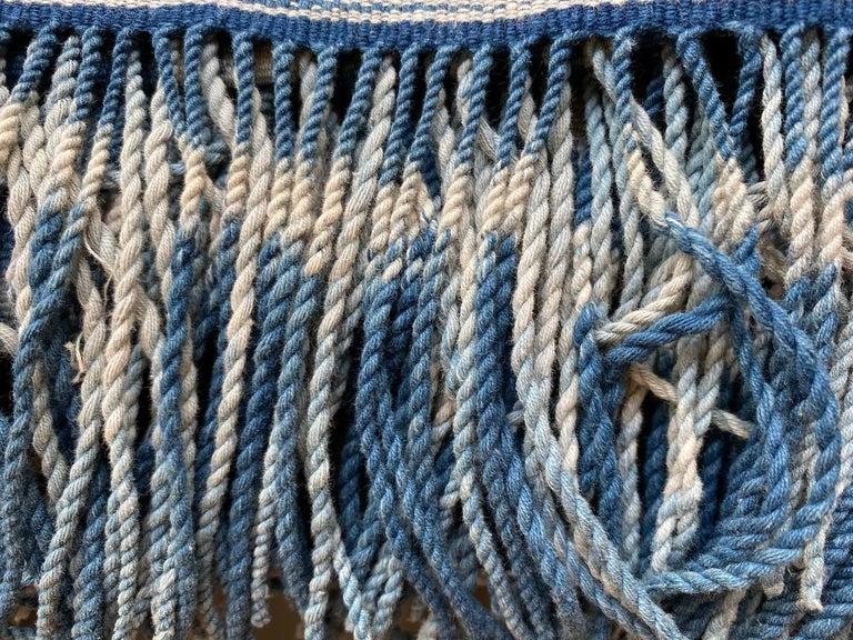 Andrianna Shamaris Rare Bold indigo Cotton Sumba Textile For Sale 5