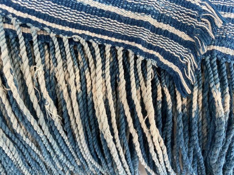 Andrianna Shamaris Rare Bold indigo Cotton Sumba Textile For Sale 6