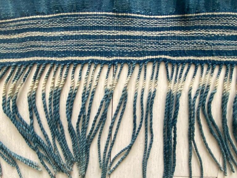 Indonesian Andrianna Shamaris Rare Bold indigo Cotton Sumba Textile For Sale