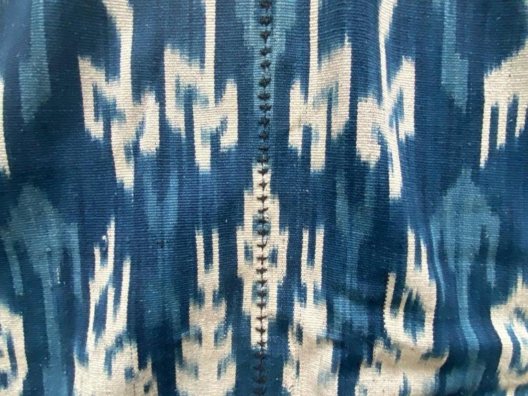 Andrianna Shamaris Rare Bold indigo Cotton Sumba Textile For Sale 1