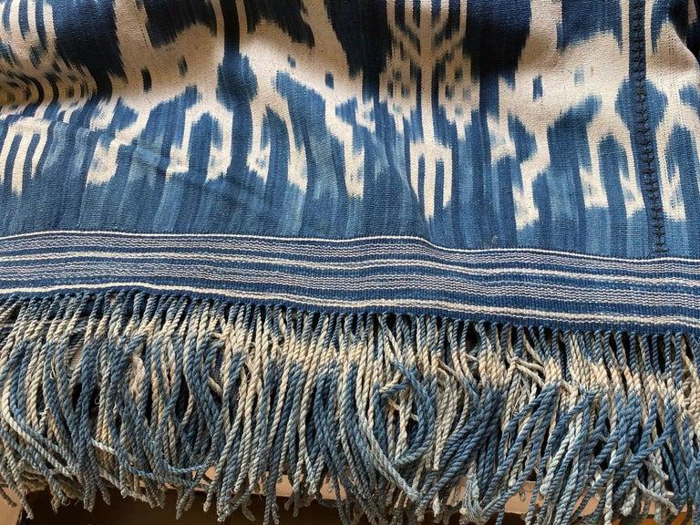 Andrianna Shamaris Rare Bold indigo Cotton Sumba Textile For Sale 2