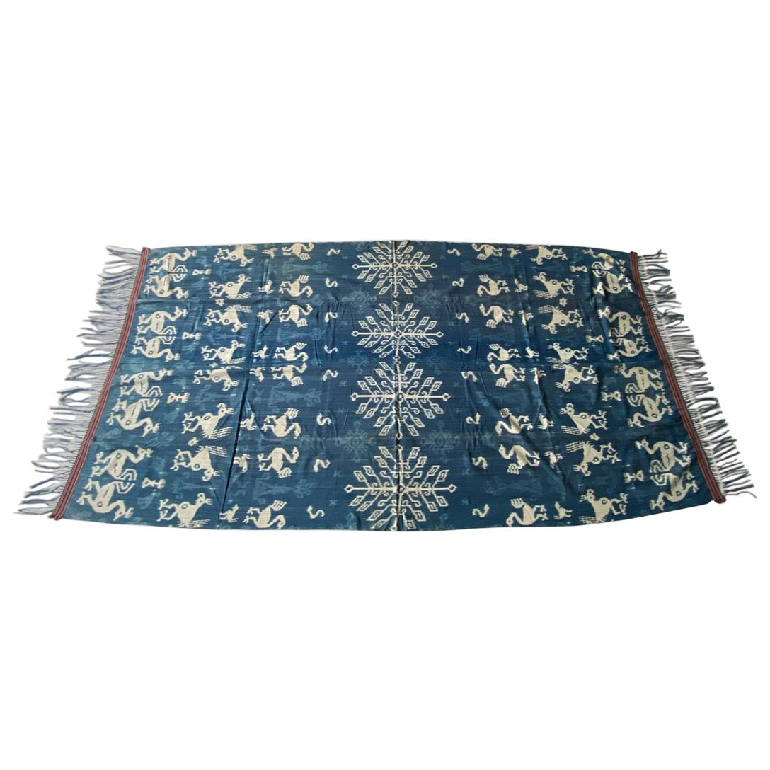 Andrianna Shamaris Rare Bold indigo Cotton Sumba Textile