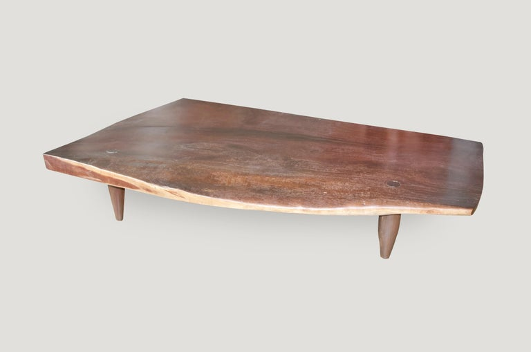 Andrianna Shamaris Rare Mahoni Wood Coffee Table In New Condition For Sale In New York, NY