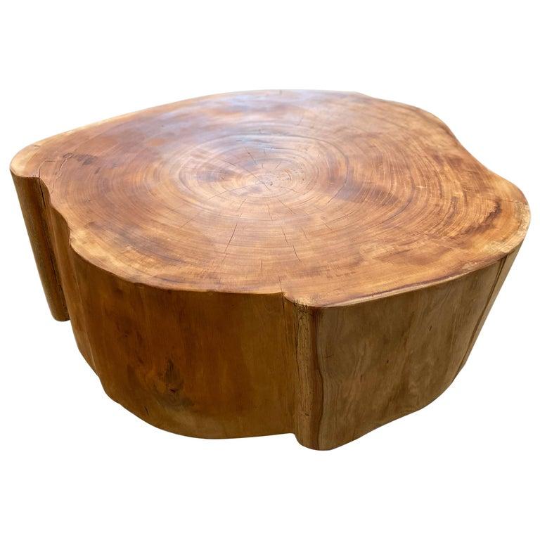 Andrianna Shamaris Reclaimed Mahogany Wood Coffee Table For Sale