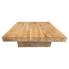 Andrianna Shamaris Reclaimed Square Natural Teak Wood Coffee Table