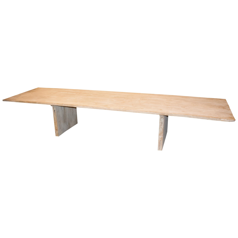 Andrianna Shamaris Reclaimed Teak Wood Dining Table