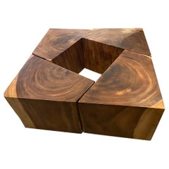 Andrianna Shamaris Reclaimed Wood Modular Coffee Table or Side Tables