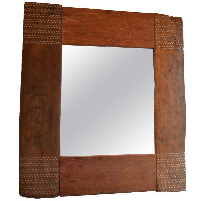 Andrianna Shamaris Shell Inlay Mirror For Sale