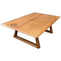 Andrianna Shamaris Single Slab Teak Wood Coffee Table