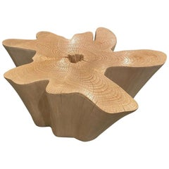Andrianna Shamaris St. Barts Bleached Teak Wood Coffee Table