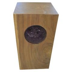 Andrianna Shamaris St. Barts Suar Wood Pedestal with Resin