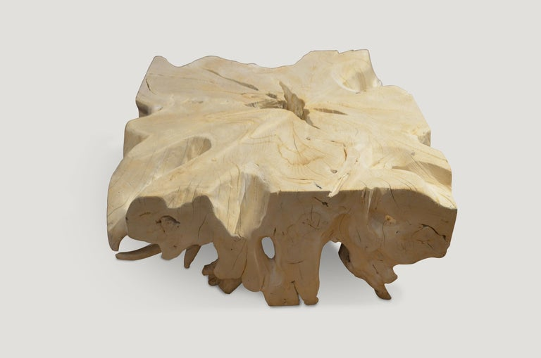 Andrianna Shamaris St. Barts Teak Wood Coffee Table In New Condition For Sale In New York, NY