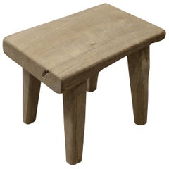 Andrianna Shamaris St. Barts Teak Wood Side Table or Stool