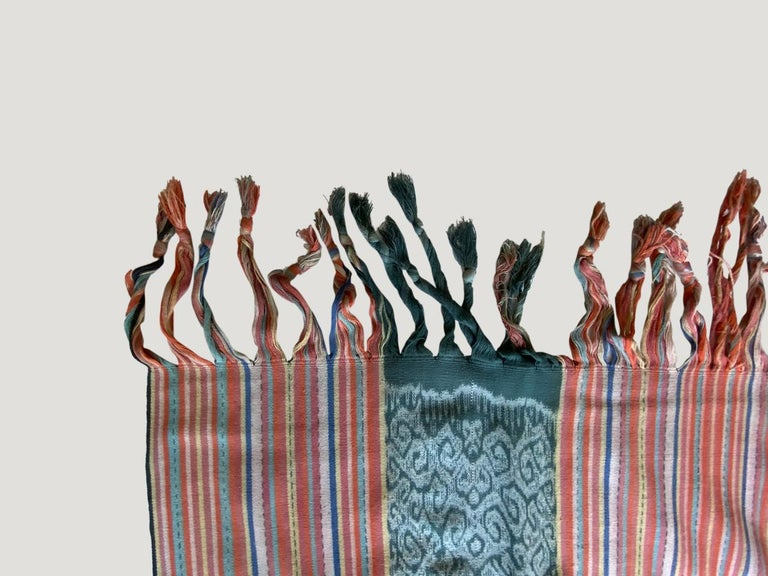 Indonesian Andrianna Shamaris Super Rare Cotton Ikat from Sumba Indonesia For Sale