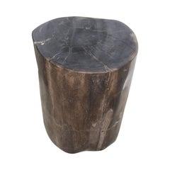 Andrianna Shamaris Super Smooth Classic Dark Petrified Wood Side Table