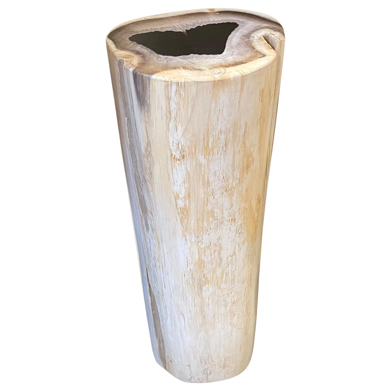 Andrianna Shamaris Super Smooth High Quality Petrified Wood Side Table/Pedestal