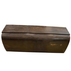 Andrianna Shamaris Super Smooth Petrified Wood Log Bench