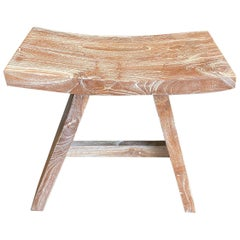 Andrianna Shamaris Teak Wood 'A' Bench