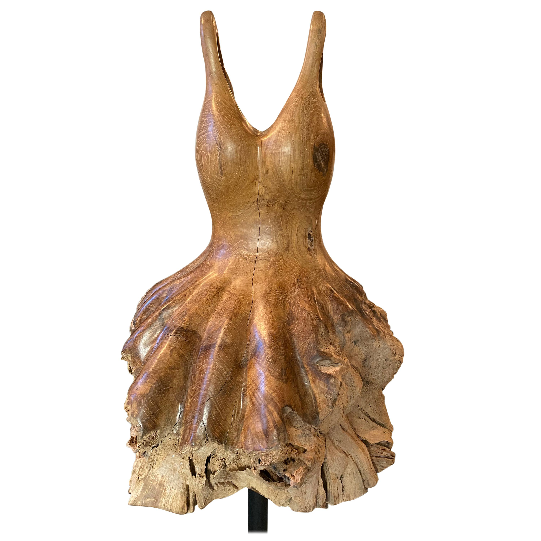 Andrianna Shamaris Teak Wood Ballerina Sculpture