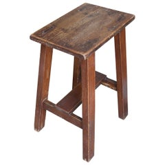 Andrianna Shamaris Teak Wood Wabi Sabi Stool or Side Table