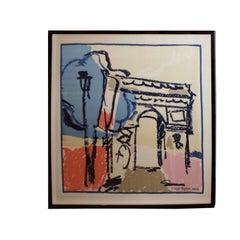 Andrianna Shamaris The Arc de Triomphe de l'Étoile Courrèges Scarf