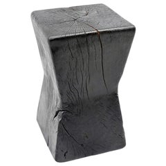 Andrianna Shamaris Triple Burnt Tamarin Wood Side Table