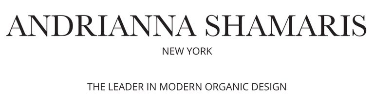 Organic Modern Andrianna Shamaris Triple Burnt Tamarind Wood Side Table For Sale