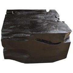Andrianna Shamaris Triple Burnt Teak Wood Coffee Table