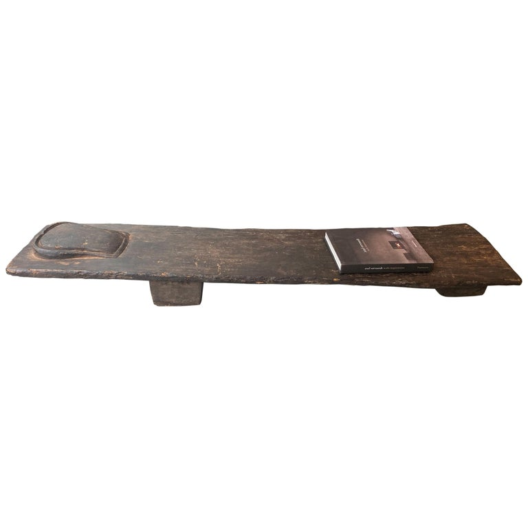 Andrianna Shamaris Wabi Sabi Antique Wooden Coffee Table, Bench or Chaise For Sale