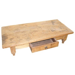 Andrianna Shamaris Wabi Sabi Natural Teak Wood Coffee Table