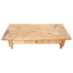 Andrianna Shamaris Wabi Sabi Natural Teak Wood Coffee Table