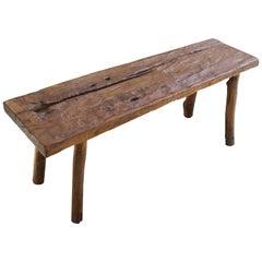 Andrianna Shamaris Wabi Sabi Teak Wood Bench