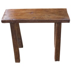 Andrianna Shamaris Wabi Sabi Teak Wood Bench or Side Table