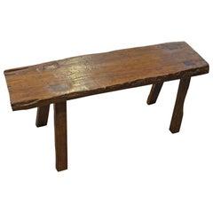 Andrianna Shamaris Wabi Teak Wood Bench