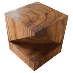 Andrianna Shamaris Wooden Origami Suar Wood Side Table