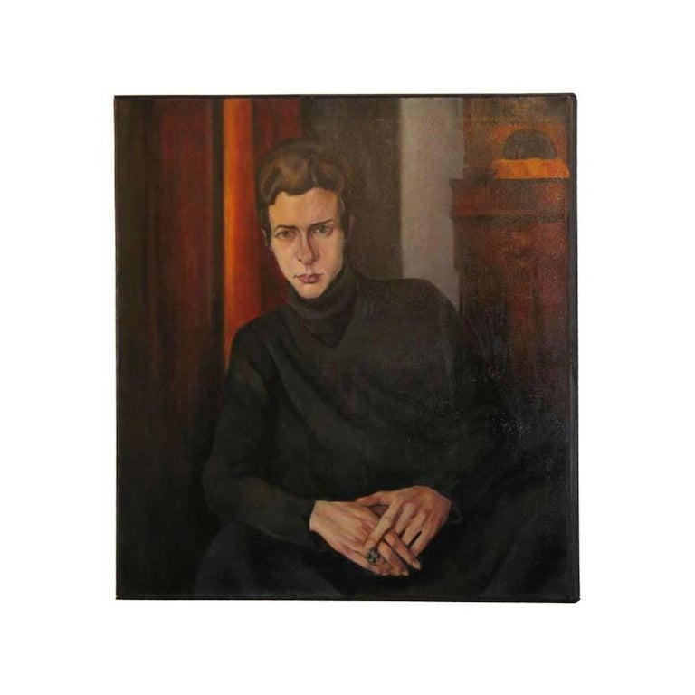 Androgynous 'New Objectivity' Portrait by Hans Speidel For Sale