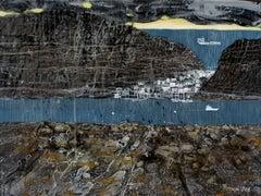 Aegean Sea - XXI Century, Contemporary Acrylic Landscape Painting, Marine View