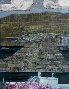 Before an island - XXI Century, Acrylic Landscape Painting, Marine View