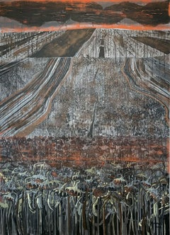 End of the month - XXI Century, Contemporary Painting, Landscape , Earth tones