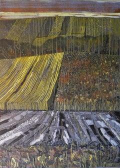 Horizon in La Meyfrenie - XXI century, Landscape, Acrylic and mixed media